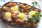 Баклажаны запеченные с яйцами