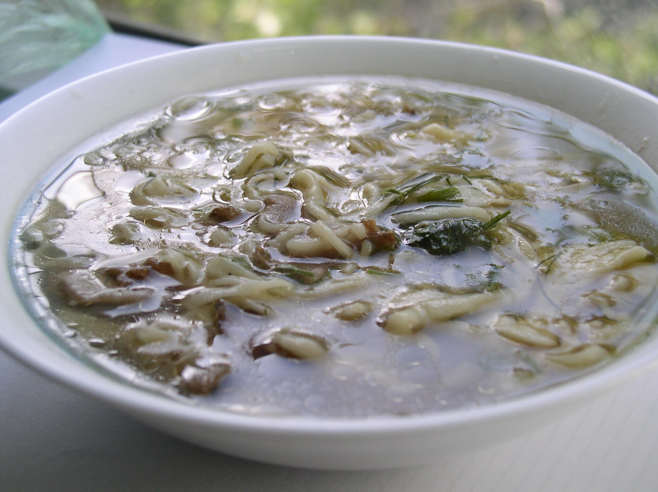 Рецепт Домашняя лапша с грибами