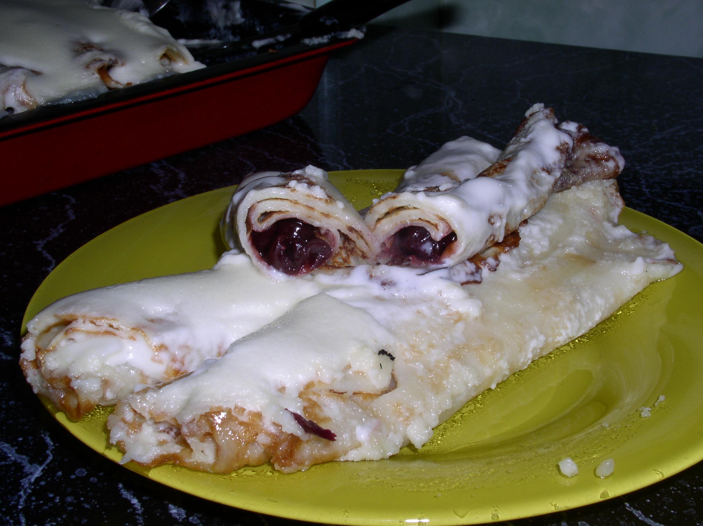 Рецепт Блинчики с вишней