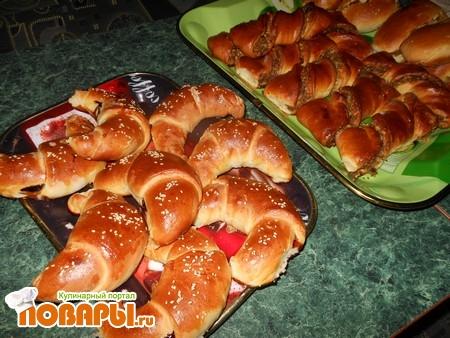 Рецепт Рогалики, ореховые булочки, пирожки