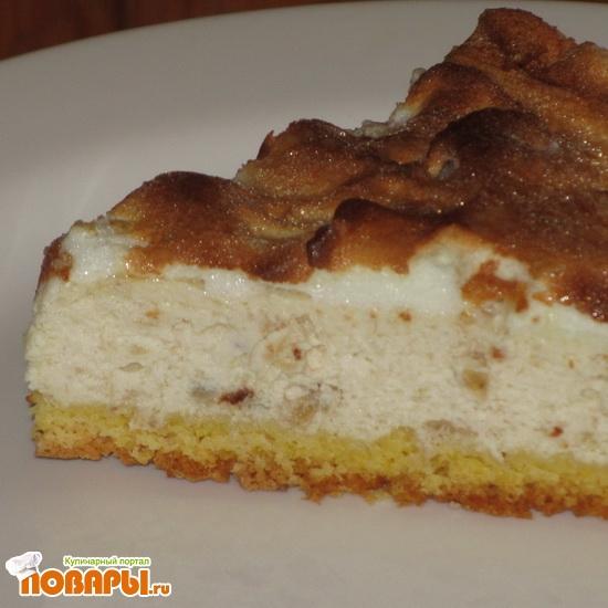 Рецепт Творожно банановый тортик