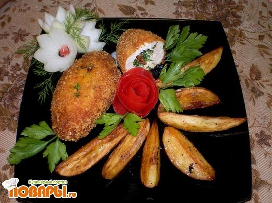 Рецепт Котлеты куриные фаршированные