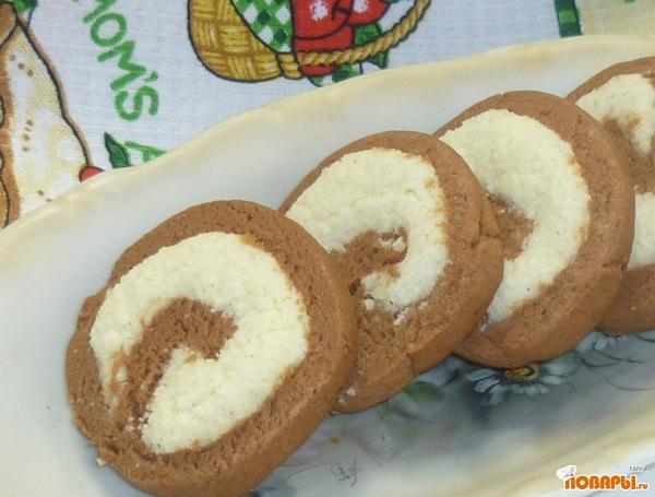 Рецепт Печенье Спиральки шоко-коко