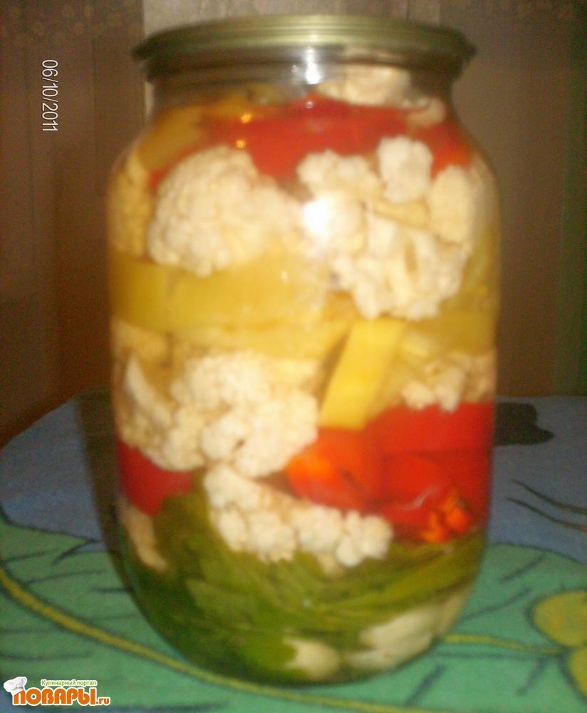 Рецепт Цветная капуста с перцем