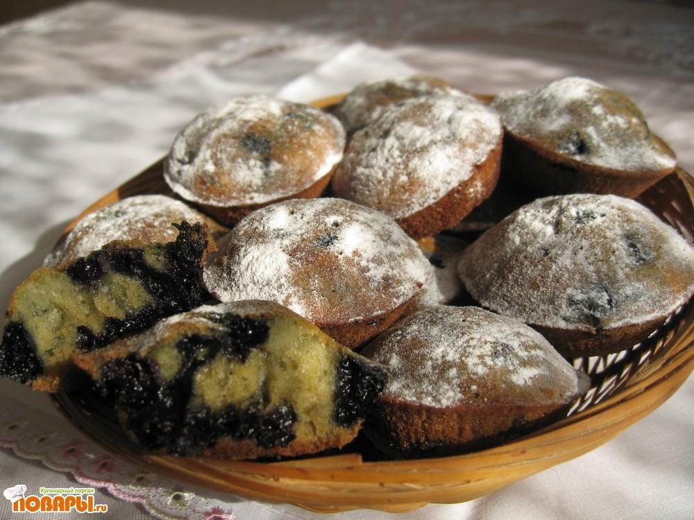 Рецепт Кексики с черникой