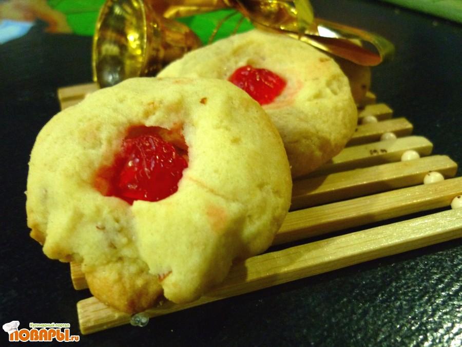 Рецепт Печенье Дамские пуговицы