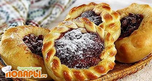 Рецепт Ватрушки с ягодами