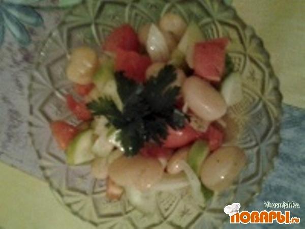 Рецепт Овощной салат с фасолью