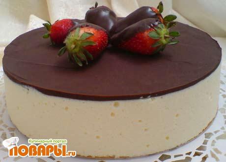 Рецепт Птичье молоко с тертым шоколадом и черносливом