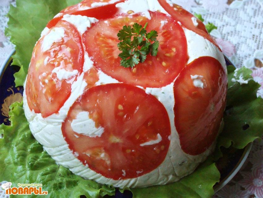 Рецепт Шарлота с помидорами