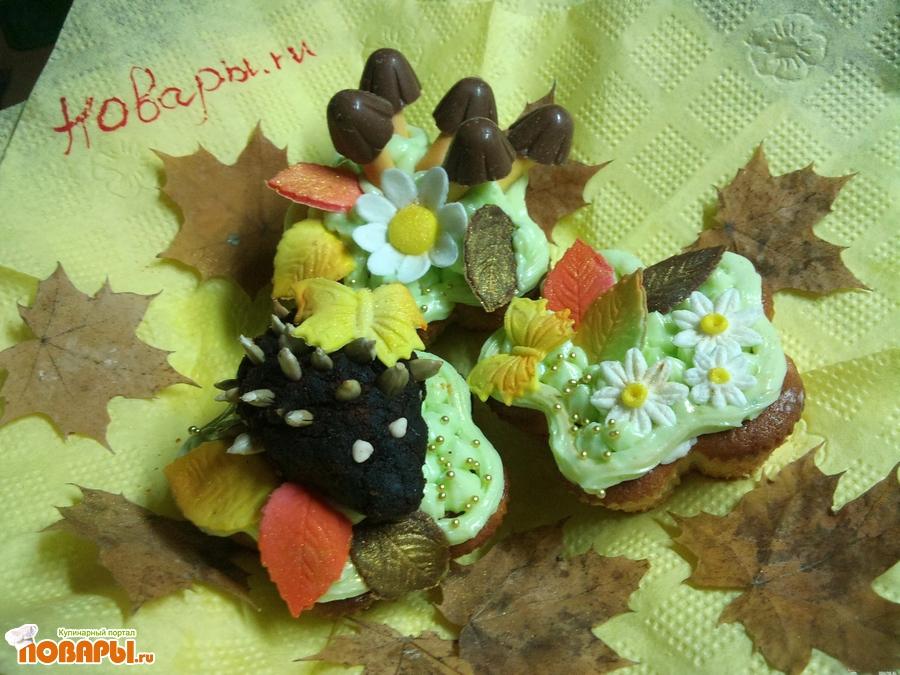 Рецепт Ванильные кексы с бананом и киви