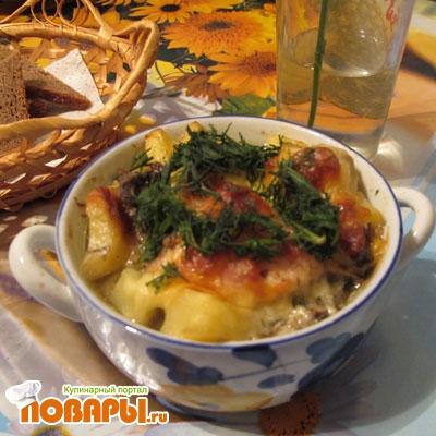 Рецепт Картофель по-домашнему в горшочках