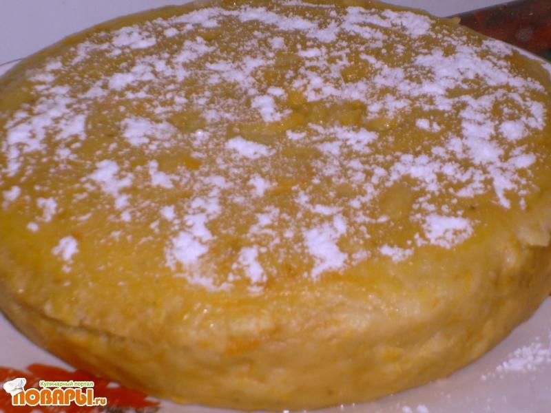Рецепт Торт - запеканка из тыквы в микроволновке