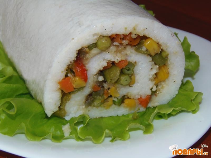 Рецепт Рисово-овощной рулет