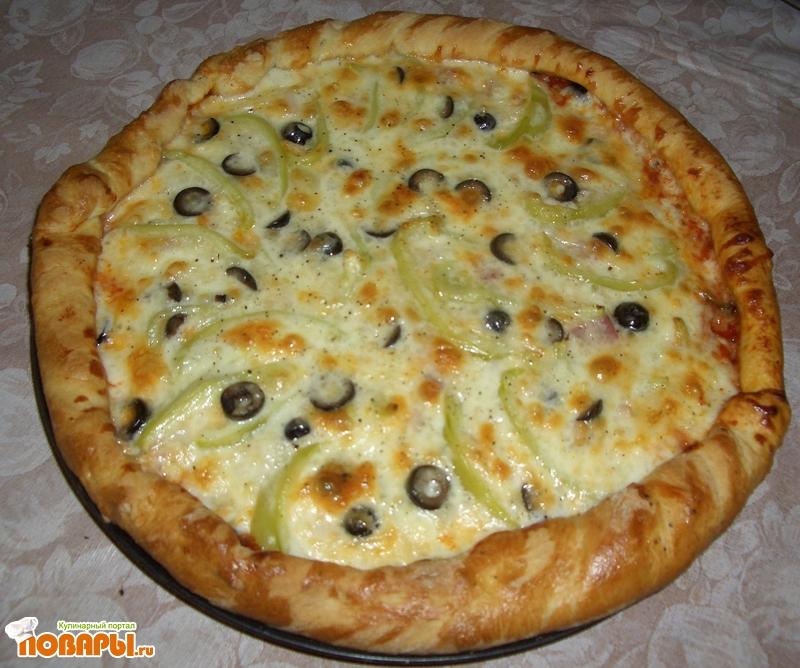 Рецепт Пицца мясная по-домашнему