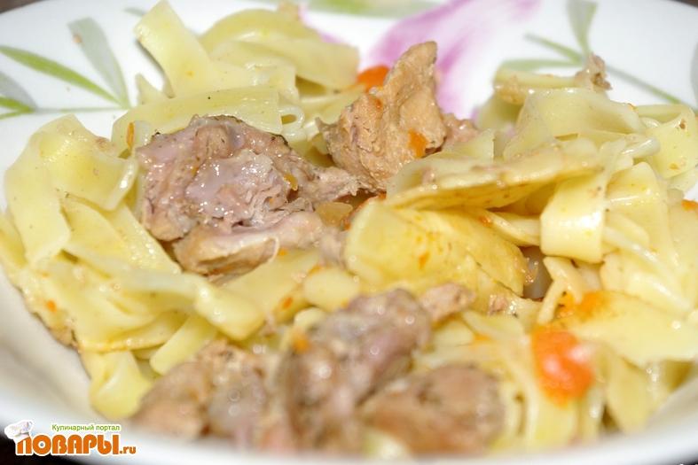 Рецепт Макароны с тушеным мясом