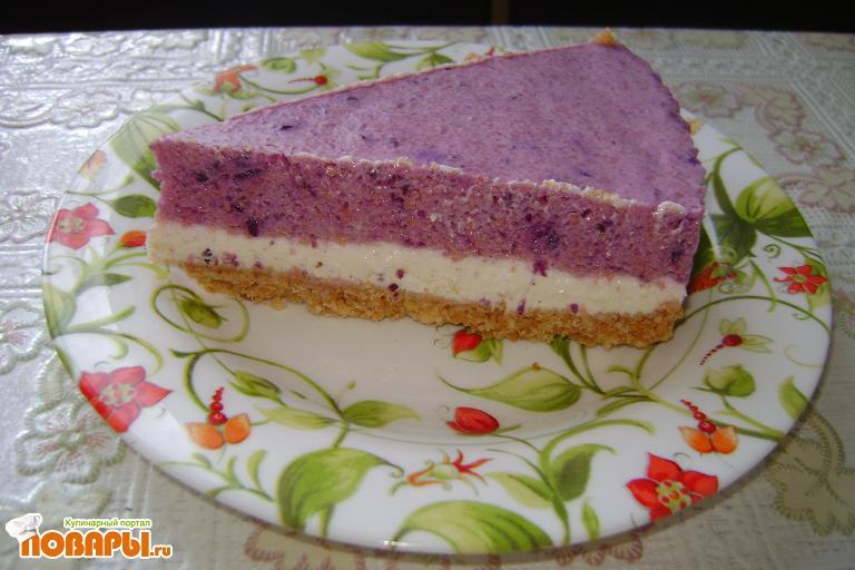 Рецепт Творожно-ягодный торт без выпечки