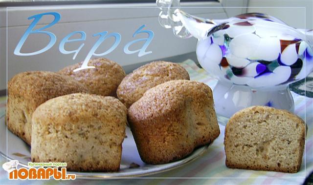Рецепт Кексы на яблочном повидле