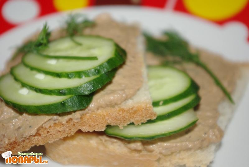 Рецепт Нежный печеночный паштет в мультиварке