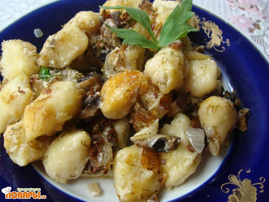 вареники с картошкой и с грибами пошаговый рецепт с фото