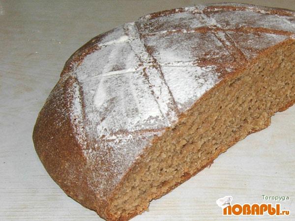 Рецепт Ржаной хлеб на домашней закваске без дрожжей