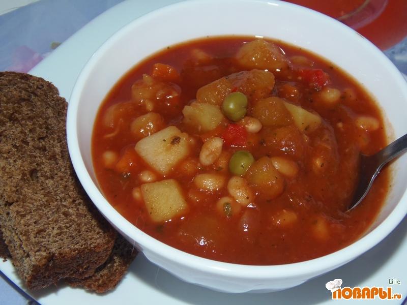 Рецепт Минестроне с фасолью