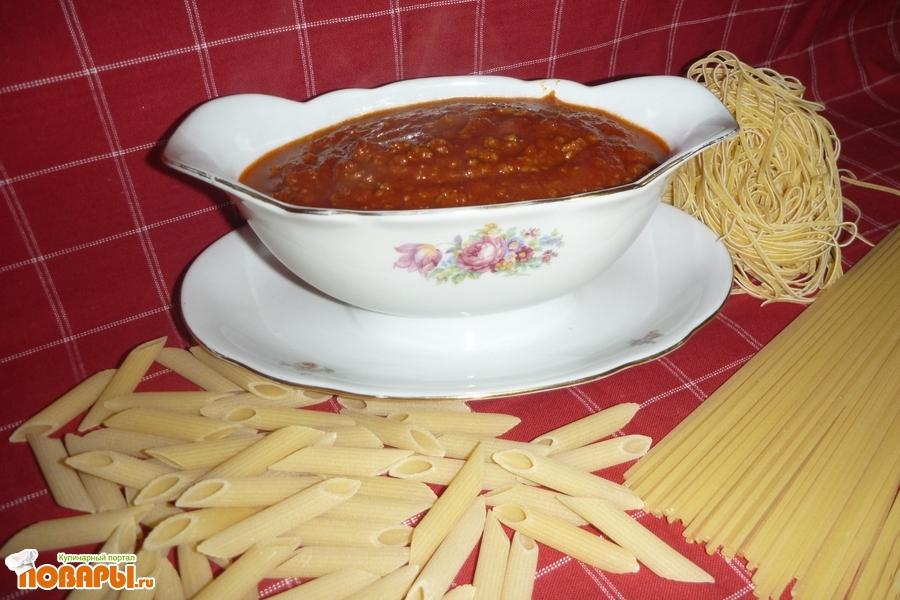 Рецепт Томатный соус с фаршем