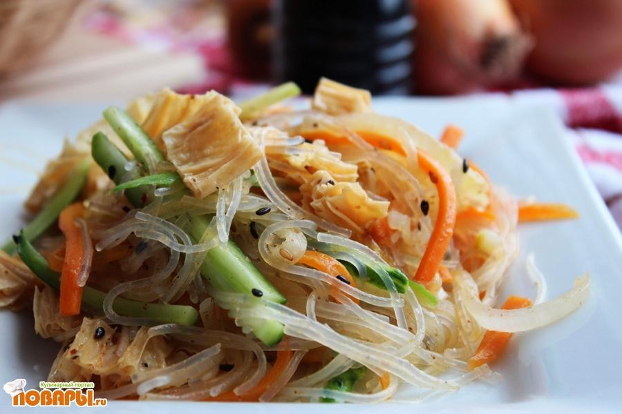 Рецепт Фунчоза с фучжи и овощами