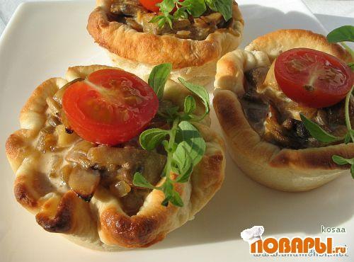 Рецепт «Сюрприз» в картофельных корзиночках