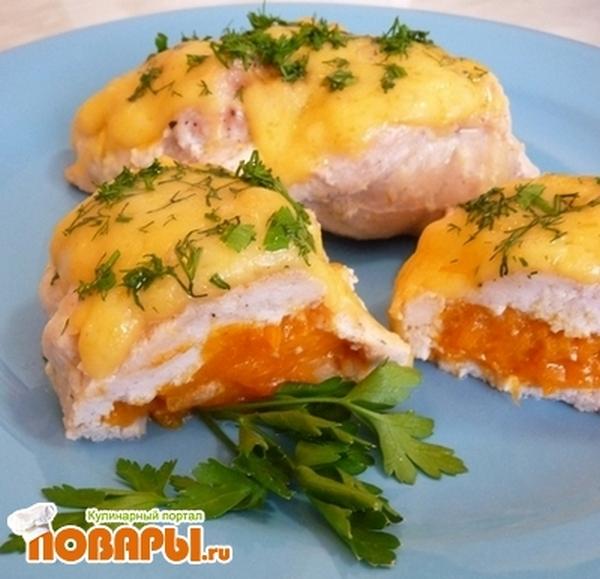 Рецепт Куриное филе с абрикосами