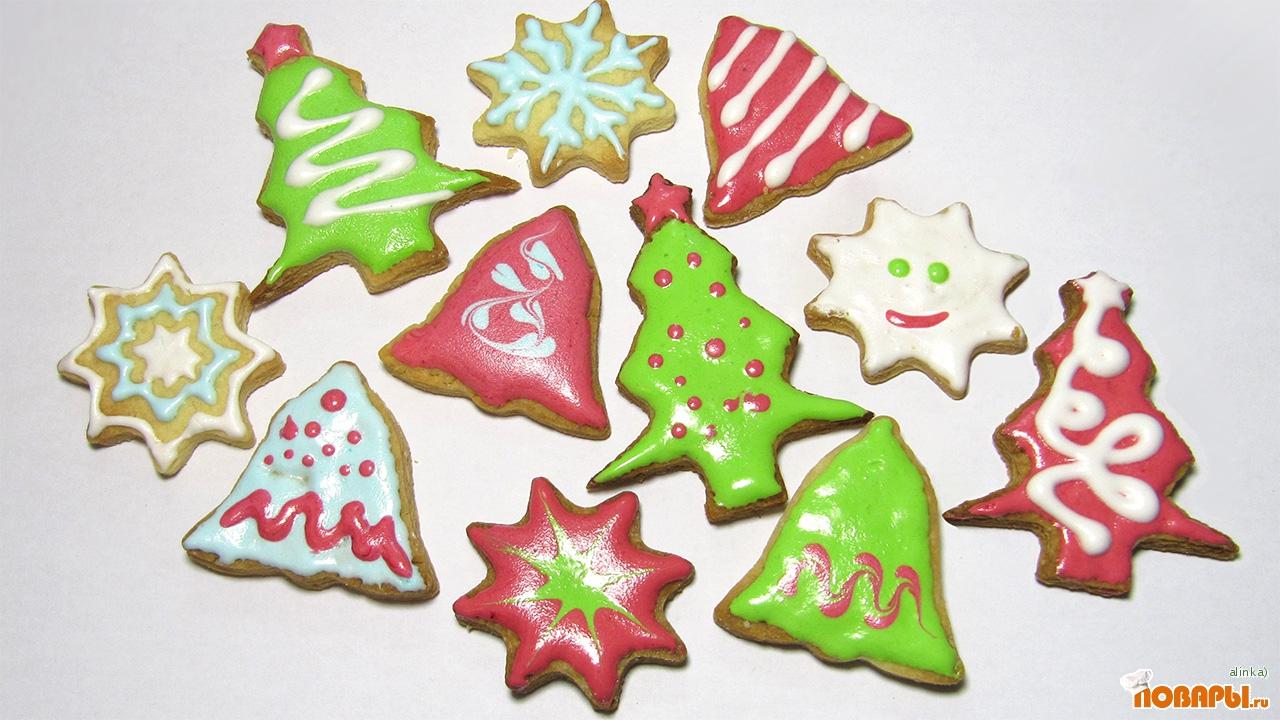 Как сделать новогодние печенье рецепт 135