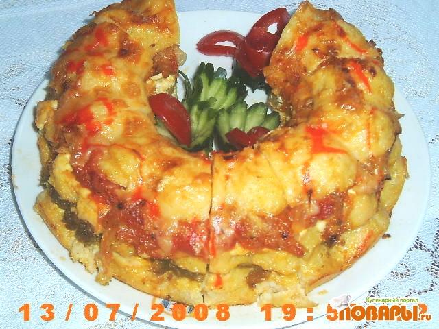 Рецепт Полента с томатами и фасолью