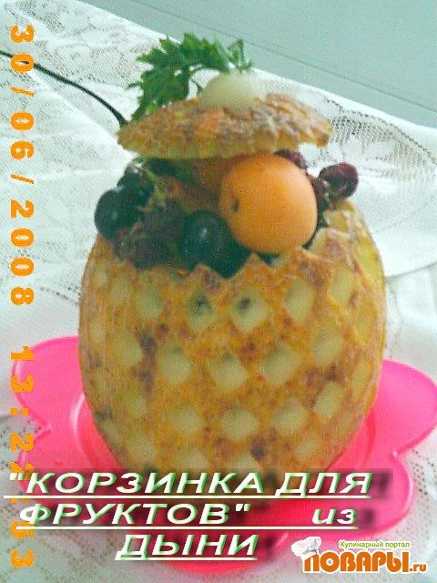 """Рецепт """"Ананас"""" из дыни"""