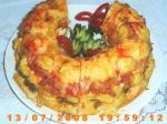 Полента с томатами и фасолью
