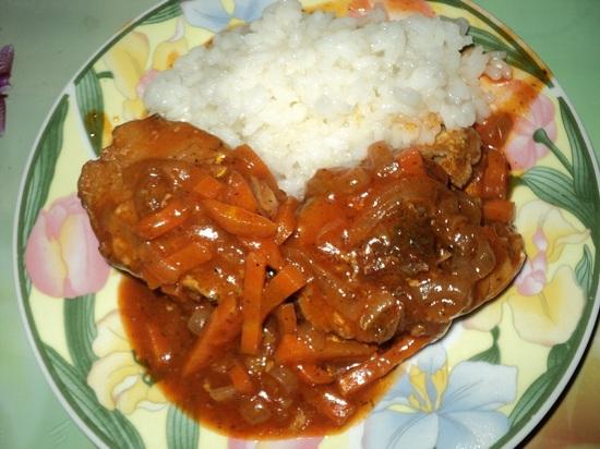 Рецепт Минтай, тушеный в томатном соусе