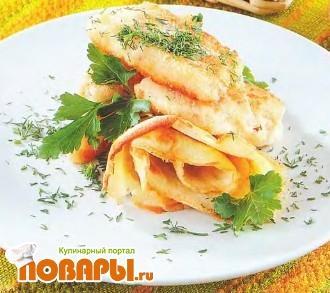 Рецепт Маринованная рыба, жаренная в сухарях