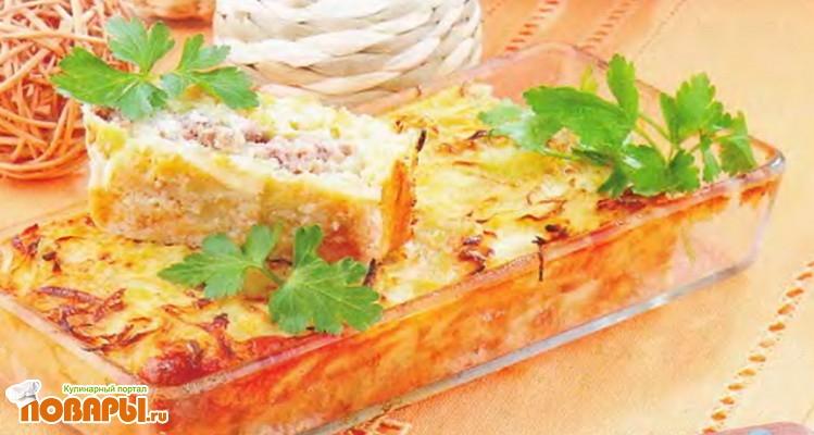 Рецепт Капустная запеканка с мясом и сливками