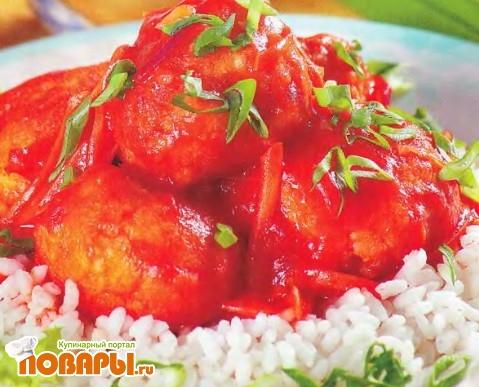 Рецепт Тефтели из яиц в томатно-овощном соусе