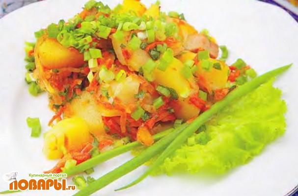 Рецепт Картофель, тушенный со свиными ребрышками