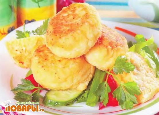 Рецепт Биточки из картофеля с творогом