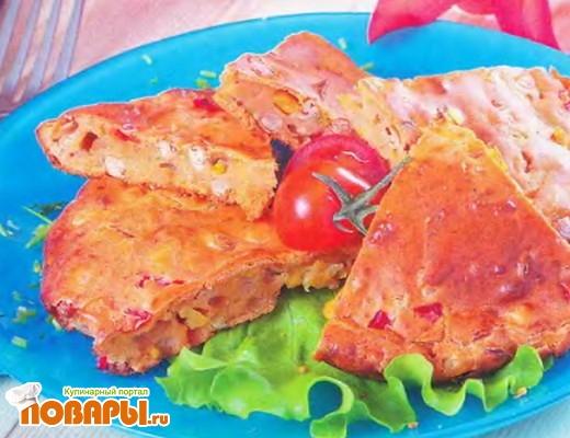 Рецепт Фасолевая запеканка с болгарским перцем и консервированной кукурузой
