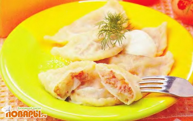 Рецепт Вареники с мясом и картошкой