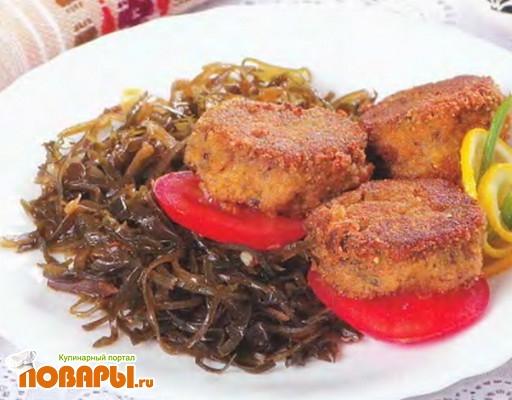 Рецепт Рыбные биточки с морской капустой