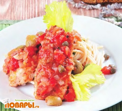 Рецепт Треска в итальянском соусе