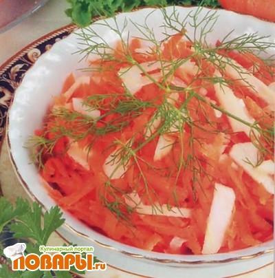 Рецепт Салат из моркови, яблок и хрена