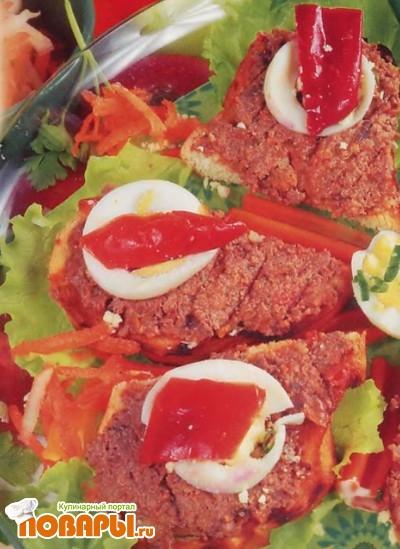 Рецепт Бутерброды с печеночным паштетом