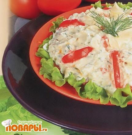 Рецепт Салат из помидоров и творога