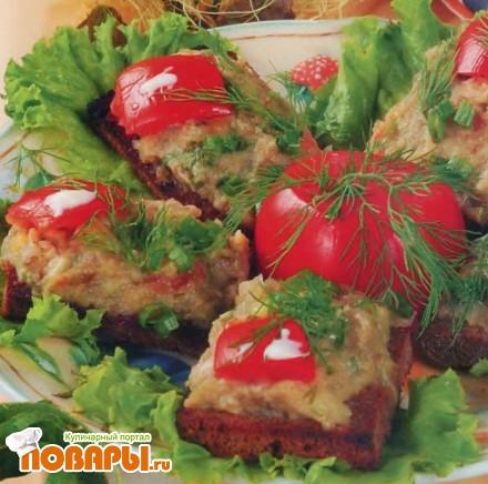 Рецепт Бутерброды с баклажанной икрой