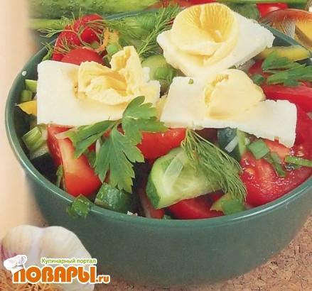 Рецепт Салат овощной по-молдавски