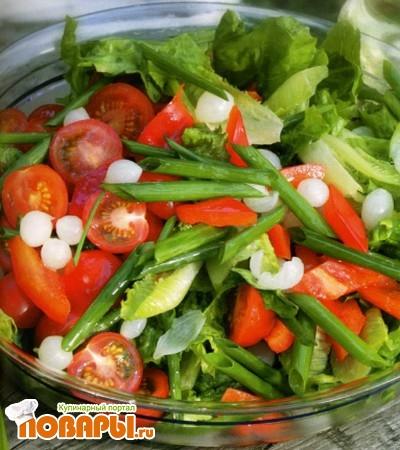 Рецепт Салат из красного болгарского перца